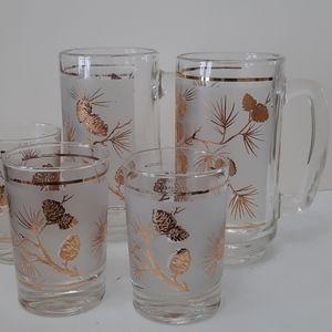 VINTAGE Libby Mugsx2 & Glasses x3
